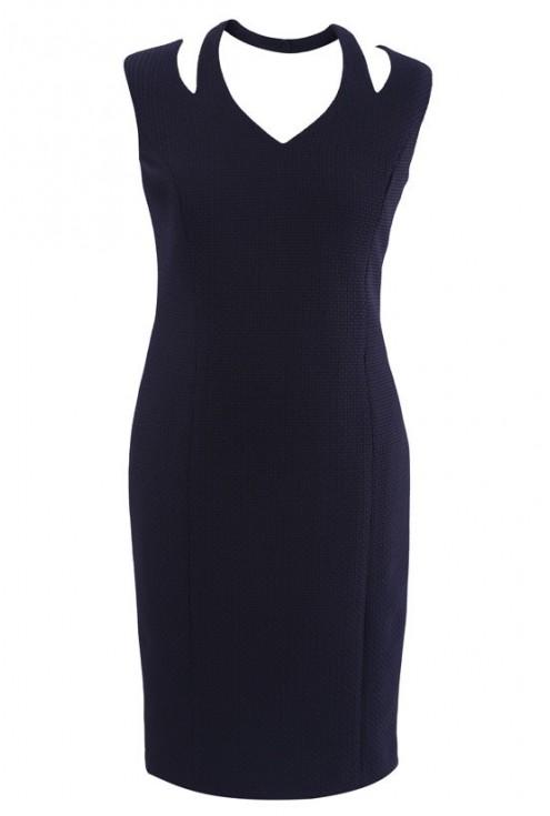 Czarna sukienka na szyję JASMINE