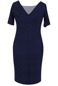 Elegancka GRANATOWA sukienka z koronki VENUS