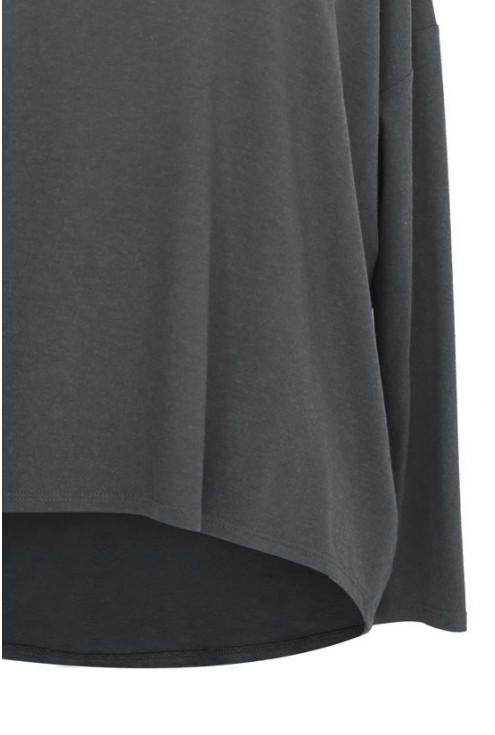 GRAFITOWA dzianinowa bluzka oversize ERIN 2
