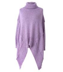 Jasnoróżowy sweter z golfem VICTORIA