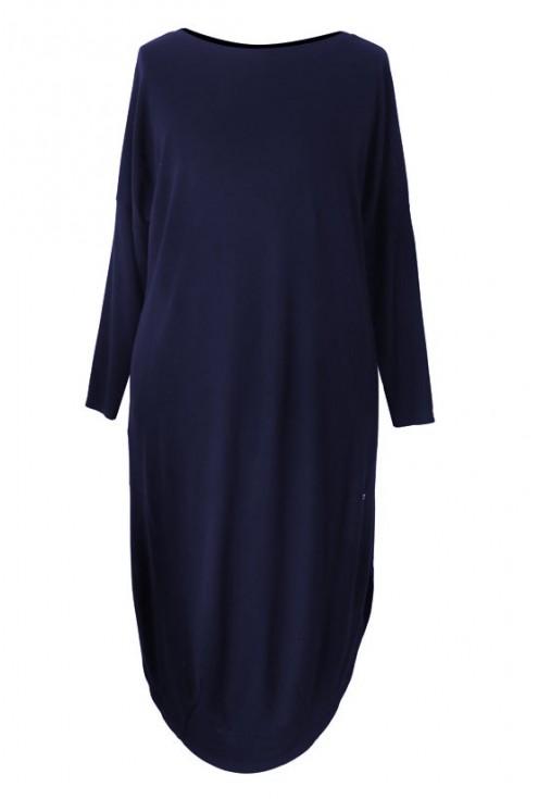 Granatowa sukienka w dużych rozmiarach ZOE 2
