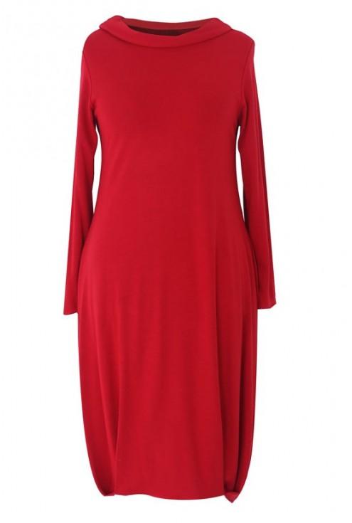 Czerwona sukienka w dużych rozmiarach JACKIE