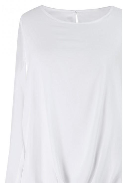 Elegancka bluzka z długim rękawe - ANDREA