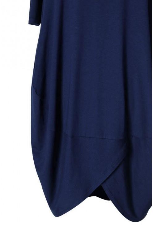 Granatowa sukienka z wiskozy - LUCY