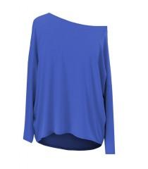 Dzianinowa bluzka oversize ERIN kobaltowa