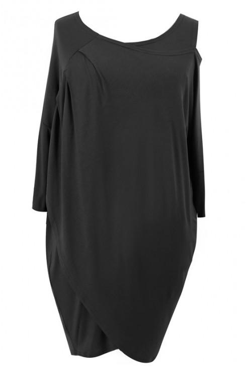 Czarna tunika z ramiączkiem CLAIRE