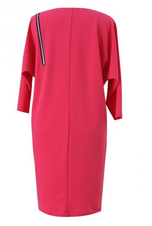 Różowa sukienka z suwakiem VALENTINE
