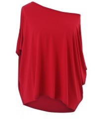 Wiśniowa bluzka oversize DAGMARA