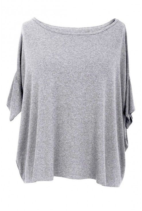Szara (melanż) bluzka oversize DAGMARA