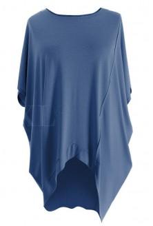 Tunika z krótkim rękawem LORI - kolor jeansowy