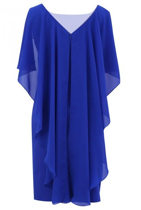 """Kobaltowa sukienka na wesele """"SKRZYDŁA"""""""