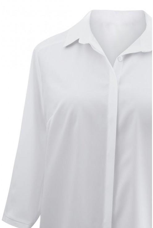 Elegancka biała koszula SELLA - rękaw 3/4