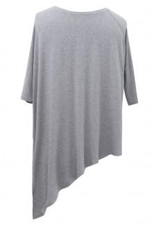 Skośna bluzka CATRINE jasnoszara (melanż)