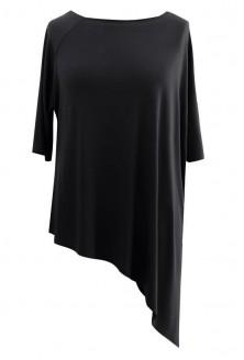 Czarna skośna bluzka CATRINE