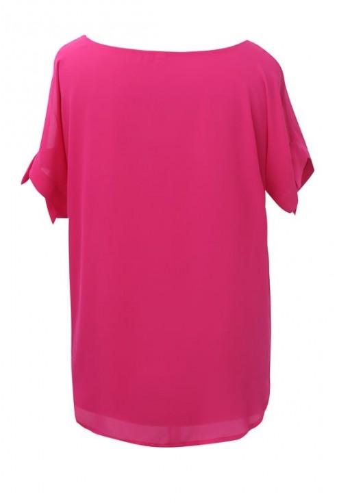 Amarantowa szyfonowa bluzka - LARISS
