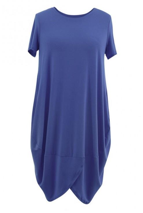 Sukienka z wiskozy LUCY kolor jeansowy