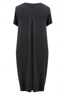 Czarna sukienka z krótkim rękawem LUCY