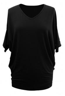 Dzianinowa czarna bluzka - DAISY