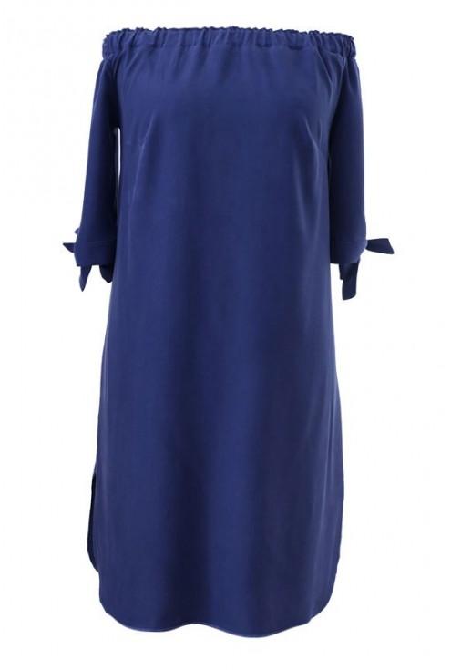 Granatowa sukienka hiszpanka - MARITA