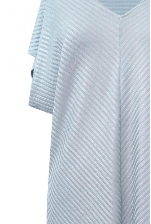 Srebrno-zielona tunika / bluzka w paski JOVITA