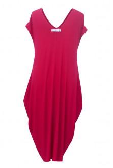 Wiśniowa dzianinowa sukienka - CYNTIA