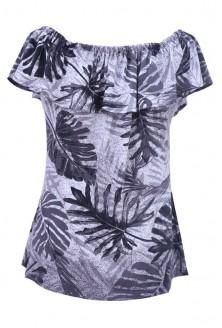 Szara dzianinowa bluzka hiszpanka - LEILA