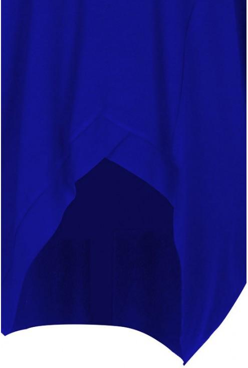 Chabrowa tunika asymetryczna LORI - długi rękaw