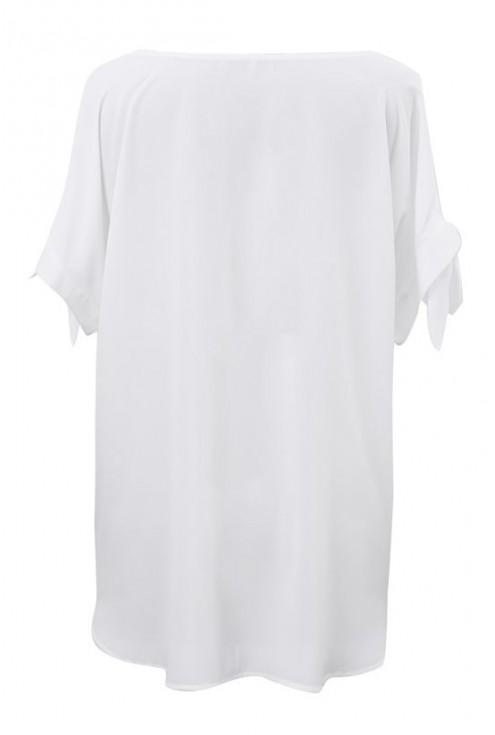 Biała szyfonowa bluzka - LARISS