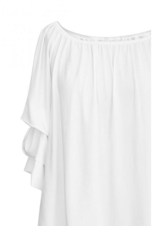 Biała wygodna bluzka CISSY