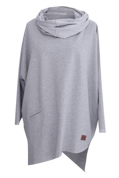 Duża jasnoszara bluza (melanż) ETTA