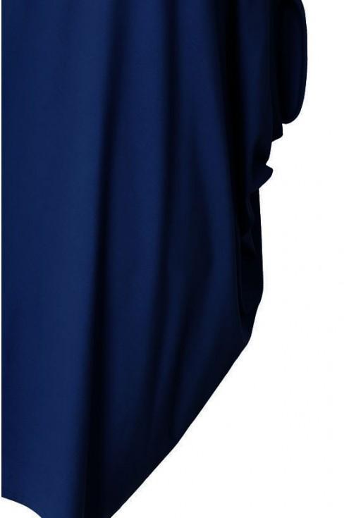 GRANATOWA tunika / sukienka ASYMETRYCZNA JENIFER