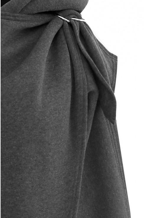 Grafitowa ciepła bluza z kapturem - NEVA