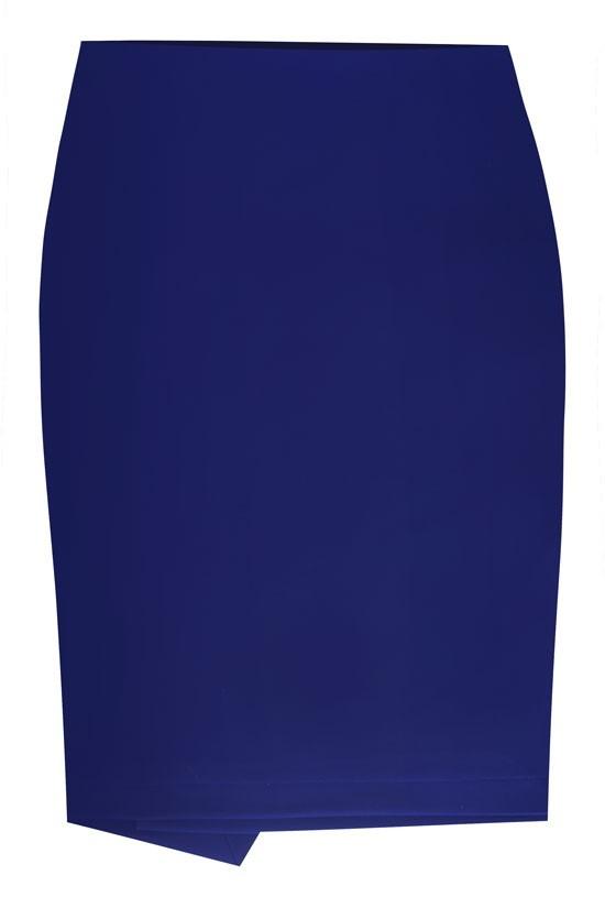 Czarna dzianinowa spódnica z zakładką z tyłu PEGGY XL ka