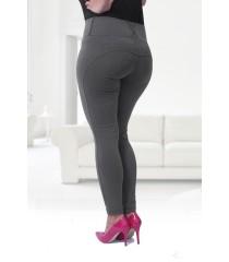 POLSKIE szare legginsy plus size PUSH-UP - NOREEN