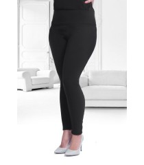 POLSKIE czarne legginsy plus size PUSH-UP - NOREEN 2