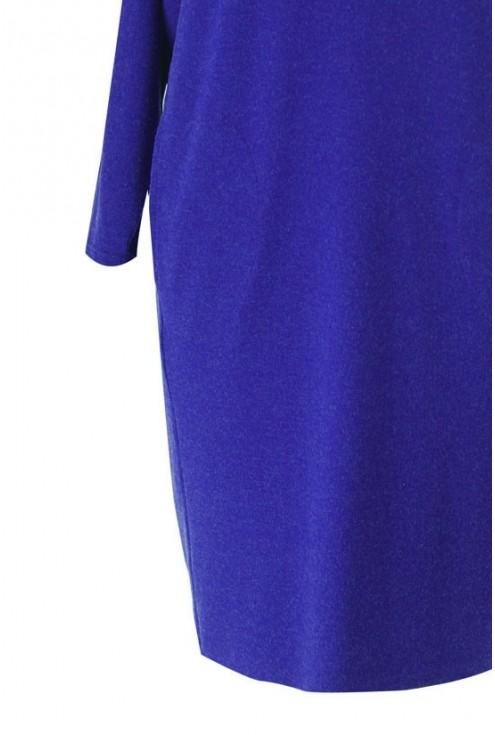 Chabrowa sukienka z ciepłego materiału VIRGINIA