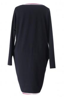 Czarna sukienka z kolorową tasiemką YNES