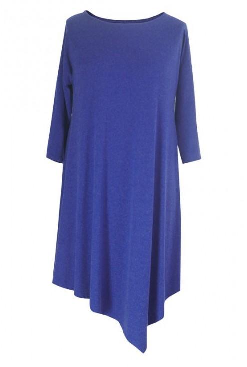 CHABROWA ciepła asymetryczna sukienka / tunika ANGELA