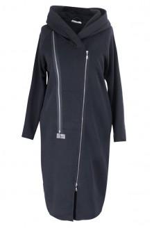 Czarny płaszczyk dresowy plus size ARJA