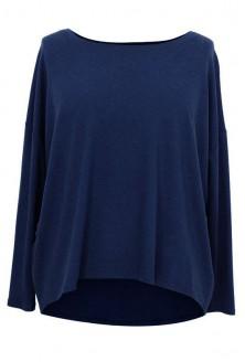 GRANATOWA dzianinowa bluzka oversize ERIN 2