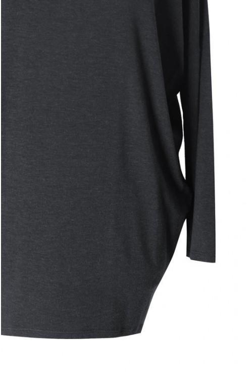Grafitowa bluzka tunika BASIC (ciepły materiał)