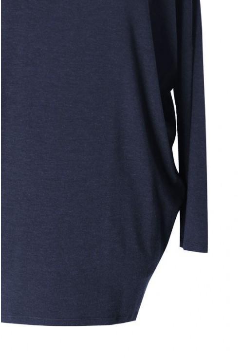 Granatowa bluzka tunika BASIC (ciepły materiał)