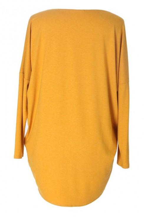 MIODOWA bluzka tunika BASIC (ciepły materiał)
