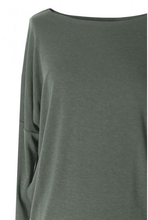 Bluzka tunika BASIC (ciepły materiał) kolor KHAKI