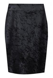 Czarna spódnica welurowa XXL - BRENDA
