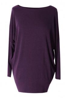 ŚLIWKOWA bluzka tunika BASIC (ciepły materiał)