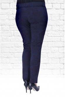 Granatowe spodnie dresowe w kwiatki CAMILLA