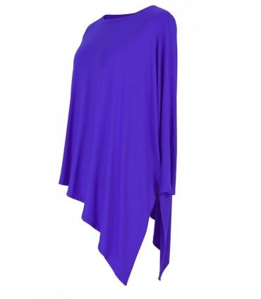 CHABROWA skośna bluzka CATRINE z długim rękawem