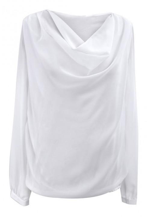 Biała bluzka z dekoltem woda LOUISA