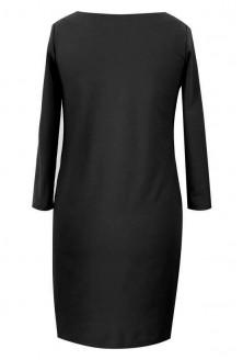 Czarna sukienka z marszczeniami na boku - CLARA